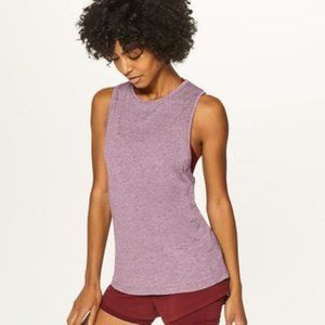 Lululemon Light Purple Ruched Muscle Tank